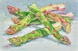 Asparagus II by Lana Okiro -  sized 9x6 inches. Available from Whitewall Galleries